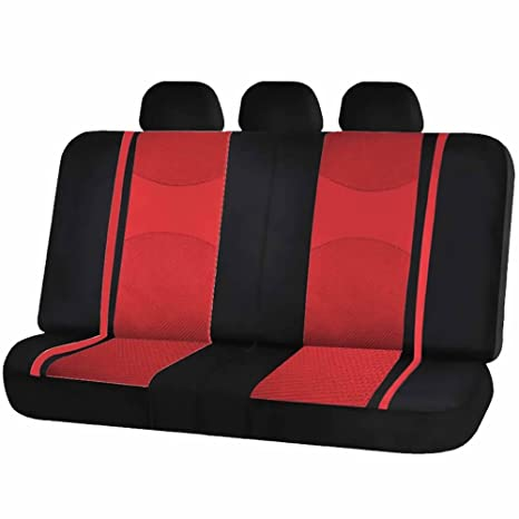 Terrific Uaa Inc Mesh Honeycomb Back Split Bench Seat Cover Headrest Covers Set For Car Truck Suvs Red Gmtry Best Dining Table And Chair Ideas Images Gmtryco