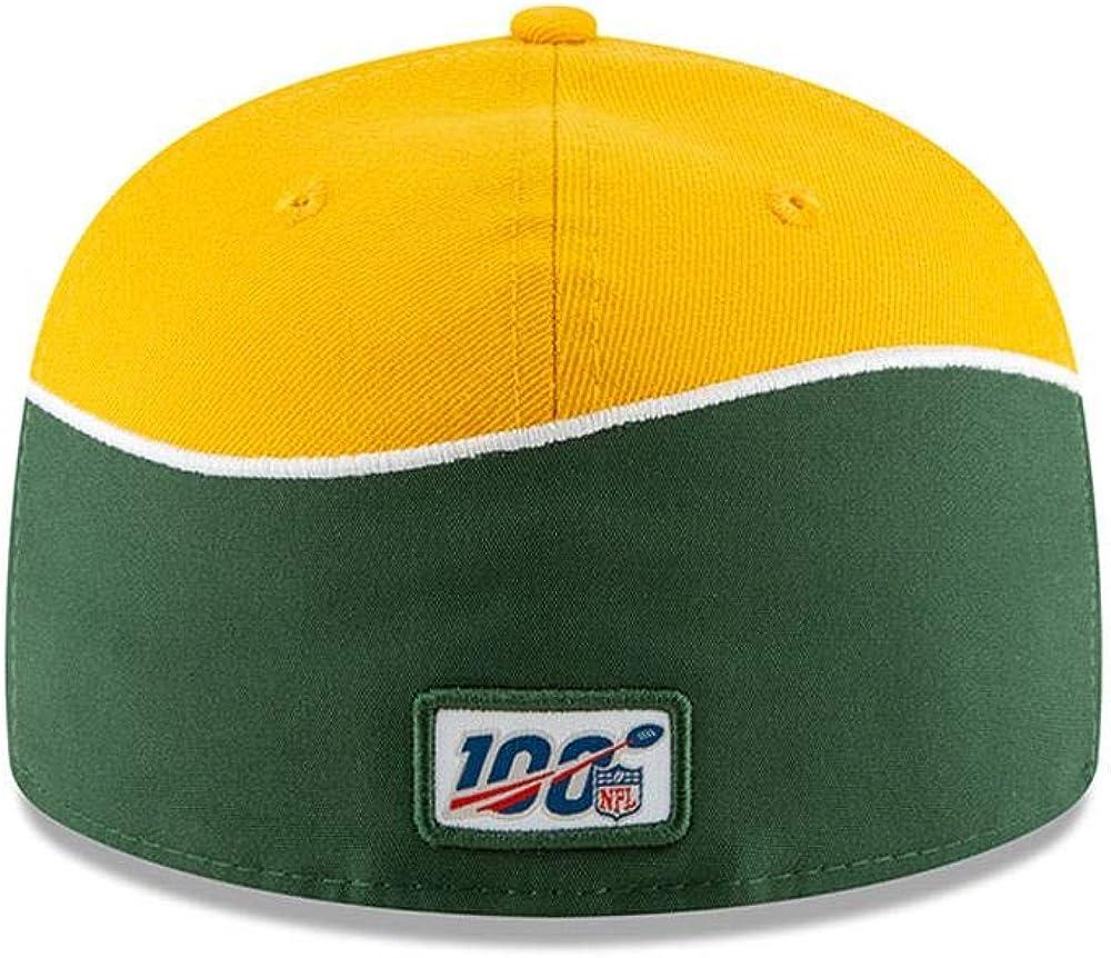 Green 19 Draft, 8 New Era Green Bay Packers Hat Official NFL Flat Brim Cap 59Fifty