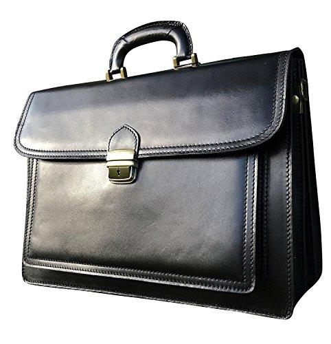 Black Italian Leather Portfolio - 16