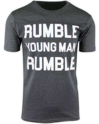 Rumble Young Man Rumble Mens Shirt Float Like a Butterfly (Charcoal Heather, M)