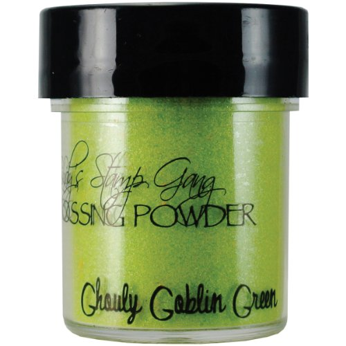 Lindy's Stamp Gang 2-Tone Embossing Powder, 0.5-Ounce Jar, Ghouly Goblin Green