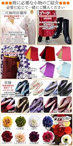 卒業式 袴 女性レディースぼかし袴はかま 5サイズ4色/