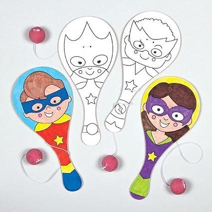 Baker Ross Paletas de Madera de superhéroes para Colorear y Decorar ...