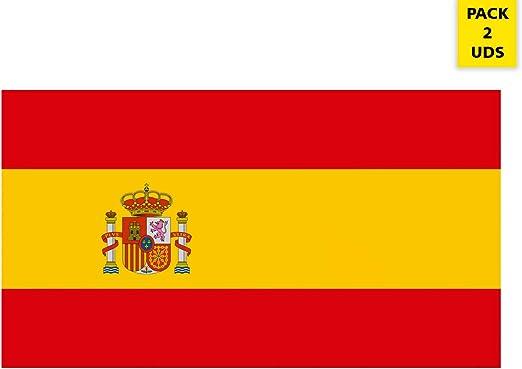 Oedim Pack 2 Banderas de España   Medidas 85x150cm   Reforzada y con Pespuntes   Bandera de España y 4 Ojales Metálicos   Resistente al Agua: Amazon.es: Hogar