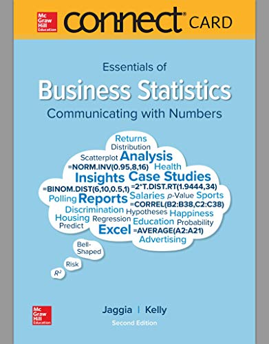 Connect Access Card for Essentials of Business Statistics