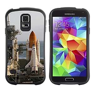Suave TPU Caso Carcasa de Caucho Funda para Samsung Galaxy S5 SM-G900 / Rocket launch center / STRONG