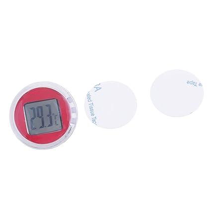 gazechimp Termómetro Digital Medidor de Temperatura Electrónica para Bicicleta Motocicleta - Rojo