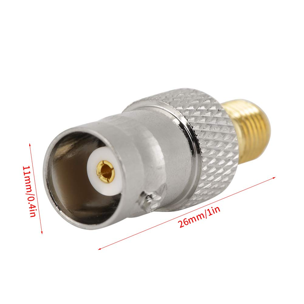 2 ST/ÜCKE BNC Buchse auf SMA Buchse Typ RF Koaxialstecker Adapter Vergoldet Kupferkern Test Converter