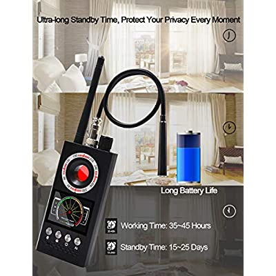 Anti Spy Detector, Bug Detector, UNEEI Upgrade AI Detector RF Detectors, Hidden Camera Detectors, Camera Finder for Wireless Audio Bug Camera Detector Finder, RF Signal Scanner Radio, Bug Sweeper: Electronics