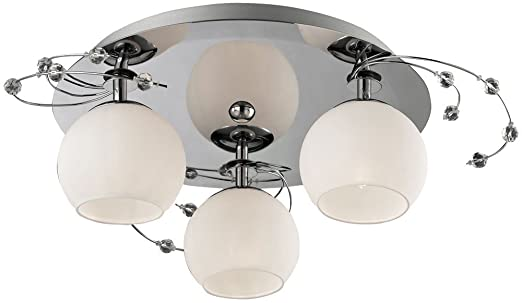 Deckenleuchte Glas Deckenlampe Beleuchtung Wohnzimmer Lampe Leuchte Licht Esto Aris 80100 3