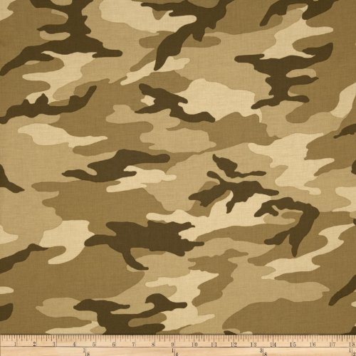 Windham Fabrics Army Camo Tan Fabric by The ()