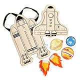 Seedling Littles Galaxy Rocket Adventure Cape Costume Kit for Toddlers Ages 2-4