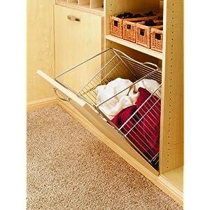 Rev-A-Shelf Closet Tilt Out Hamper Basket, Chrome