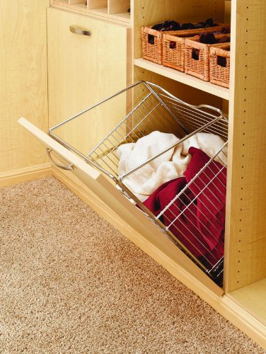 Rev-A-Shelf Closet Tilt Out Hamper Basket, Chrome