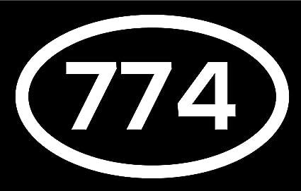 Amazon com: DHDM 774 Area Code Sticker Massachusetts