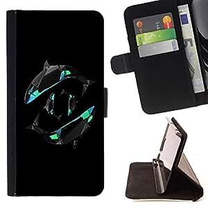 For Motorola Moto E ( 2nd Generation ) Case , Yin Yang de las ballenas- la tarjeta de Crédito Slots PU Funda de cuero Monedero caso cubierta de piel