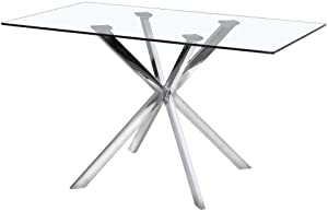 Uptown Club Kitchen Table, Silver
