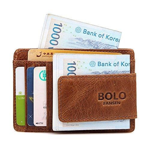Card Buffalo Bills Credit (Money Clip, Front Pocket Wallet, Leather RFID Blocking Strong Magnet thin Wallet)