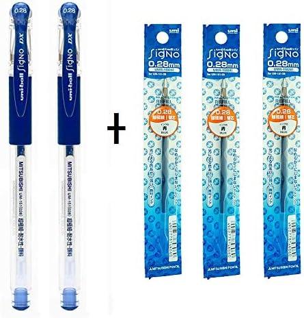 UM-151 Gel Pen DX 0.28 mm 028 BLUE 3 pcs x Uni-ball Signo