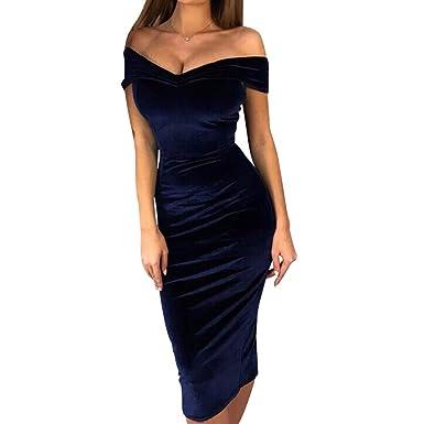 Hongxin Vestido De Noche Mujer Fuera Hombro Formal Elegante ...