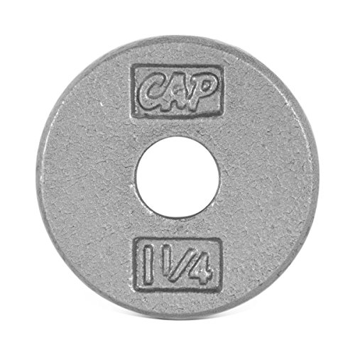 CAP Barbell Standard Free Weight Plate, 1-Inch, 1.25-Pound, Gray by CAP Barbell