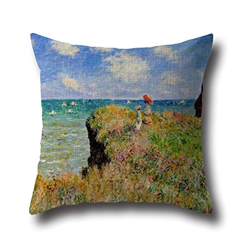 16 x 16 inches / 40 by 40 cm Monet Landscape Painting pillow cases ,2 sides ornament and gift to monther,outdoor,lounge,boys,home (Plus Bubbles Powerpuff Costume)