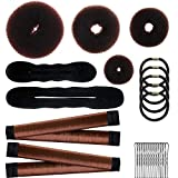 28 Pcs Donut Hair Bun Maker Set, 4 Pieces Hair