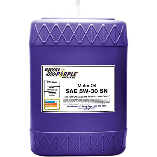 Royal Purple 05530 API-Licensed SAE 5W-30 High Performance Synthetic Motor Oil - 5 gal.