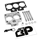 BlackPath - Durango + Dakota + Ram Throttle Body Spacer Kit Dodge 3.9L + 5.2L + 5.9L Engines (Silver) T6 Billet