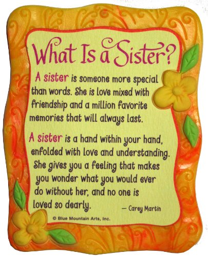 Blue Mountain Arts What is a Sister by Carey Martin Sculpted Resin Magnet (MR905) (What Is A Calendar Day)