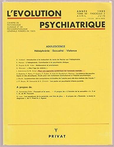 Livre gratuits Adolescence (Hébéphrénie, Sexualité, Violence) epub, pdf