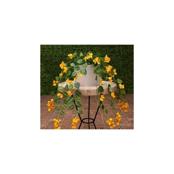 Windowbox 36in. Artificial Bougainvillea-Yellow-fire Retardant