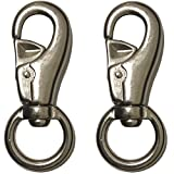 Bold Steels Swivel Hook Snap for Hammock or Hanging Swinging Chair – 1,000 lb Capacity Weight Limit – 2 Pack