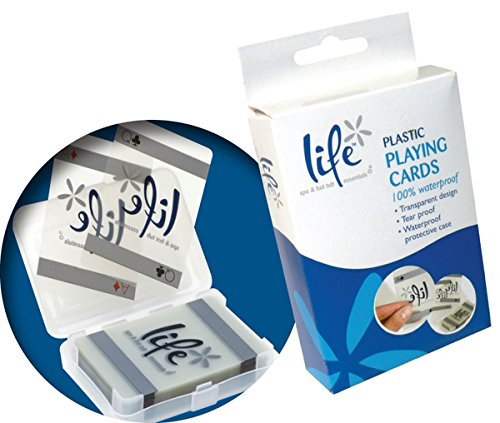 Life Waterproof Playing Cards for Pools and Spa/Hot Tub