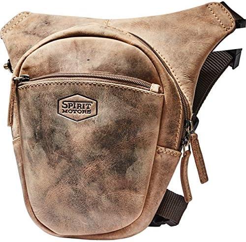 Spirit Motors Vintage Biker-Legbag braun, Unisex, Multipurpose, Ganzjährig, Leder