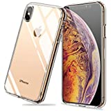 Meidom iPhone Xs Max Case with Air Cushion Technology and Anti-Fall,Full Protective Glass Cover Case for iPhone Xs Max-Glass Clear