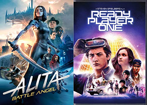 Science Fiction Modern Classics W/ Robert Rodriguez, James Cameron, + THE Steven Spielberg: Alita Battle Angel + Ready Player One 2 DVD Pack