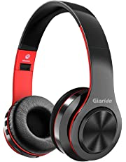 GIARIDE Bluetooth Headphones Stereo Wireless Headset with TF Card Input, Aux line, Soft Earmuffs, Built-in Mic and Foldable Design for PC, Cell Phones, Video Game