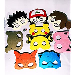 - 51jaqAnODNL - 9 Cartoon Hero Party Favors Dress Up Masks Costumes Set of 9