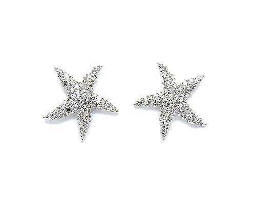 407ae2efb6f8 Pendientes estrella de mar oro blanco – Joyas de plata