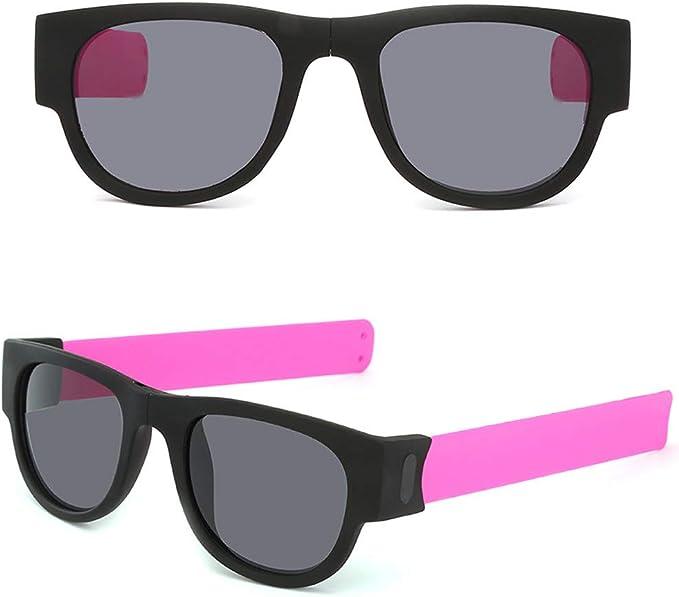 AmyGline Faltende Sonnenbrille Armband Frosch Spiegel Reit Handgelenk Kreatives Armband Brille Polarisierte Sonnenbrille Schutzbrille Snap Armband f/ür Herren und Damen