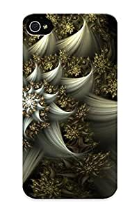 Inthebeauty Hot Tpye Fractal Flower Case Cover For Iphone 4/4s For Christmas Day's Gifts