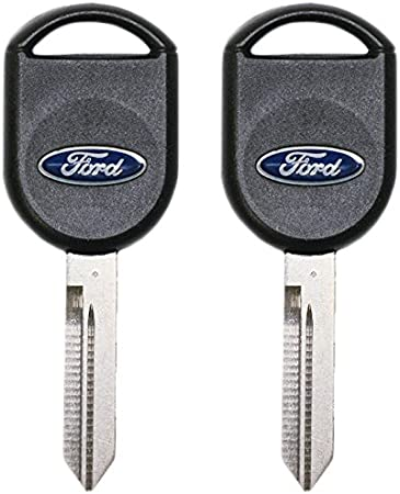 2 New Replacement Uncut Transponder chip Key For Ford F-150 Focus Fusion Mustang