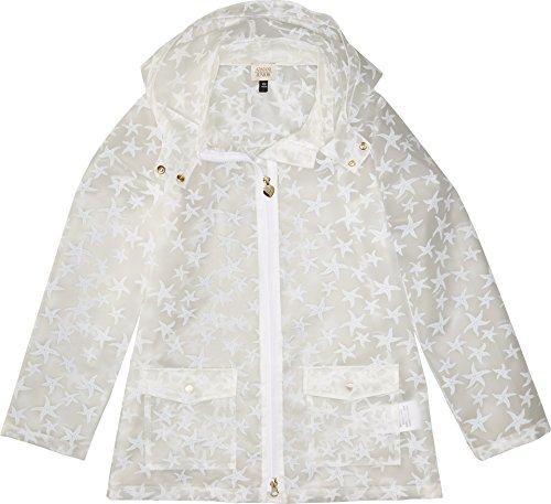 Armani Junior Baby Girl's Starfish Raincoat (Toddler/Little Kids/Big Kids) Solid White Outerwear by Armani Junior