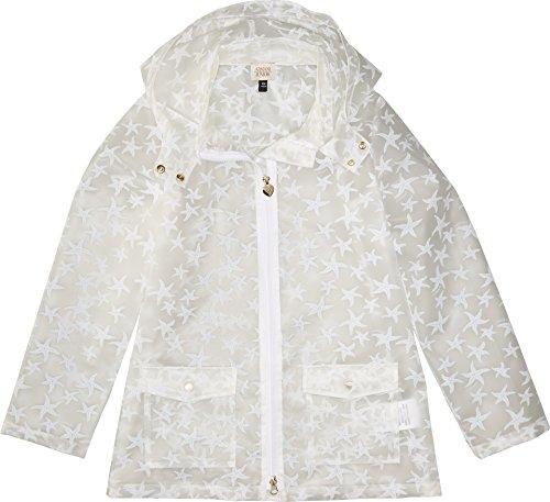 Armani Junior Baby Girl's Starfish Raincoat (Toddler/Little Kids/Big Kids) Solid White Outerwear by Armani Junior
