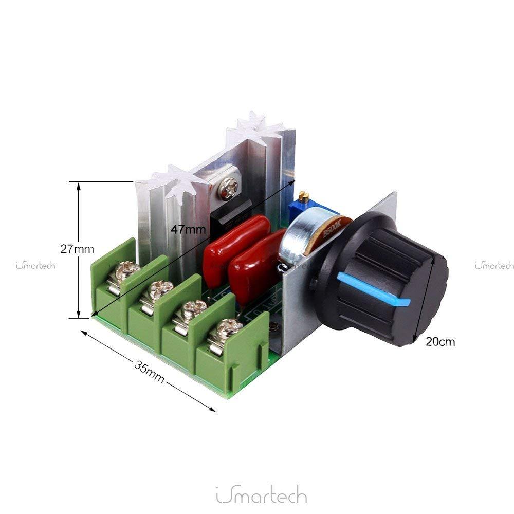 Yosoo PWM AC Motor Speed Kontrolle Controller 2000 W Spannungsregler 50 220 V 25 A LED Dimmern
