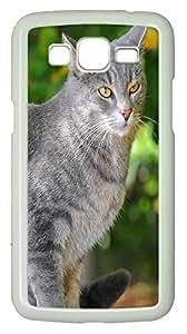 Samsung G7106 CaseGray Cat Portrait PC Custom Samsung G7106 Case Cover White