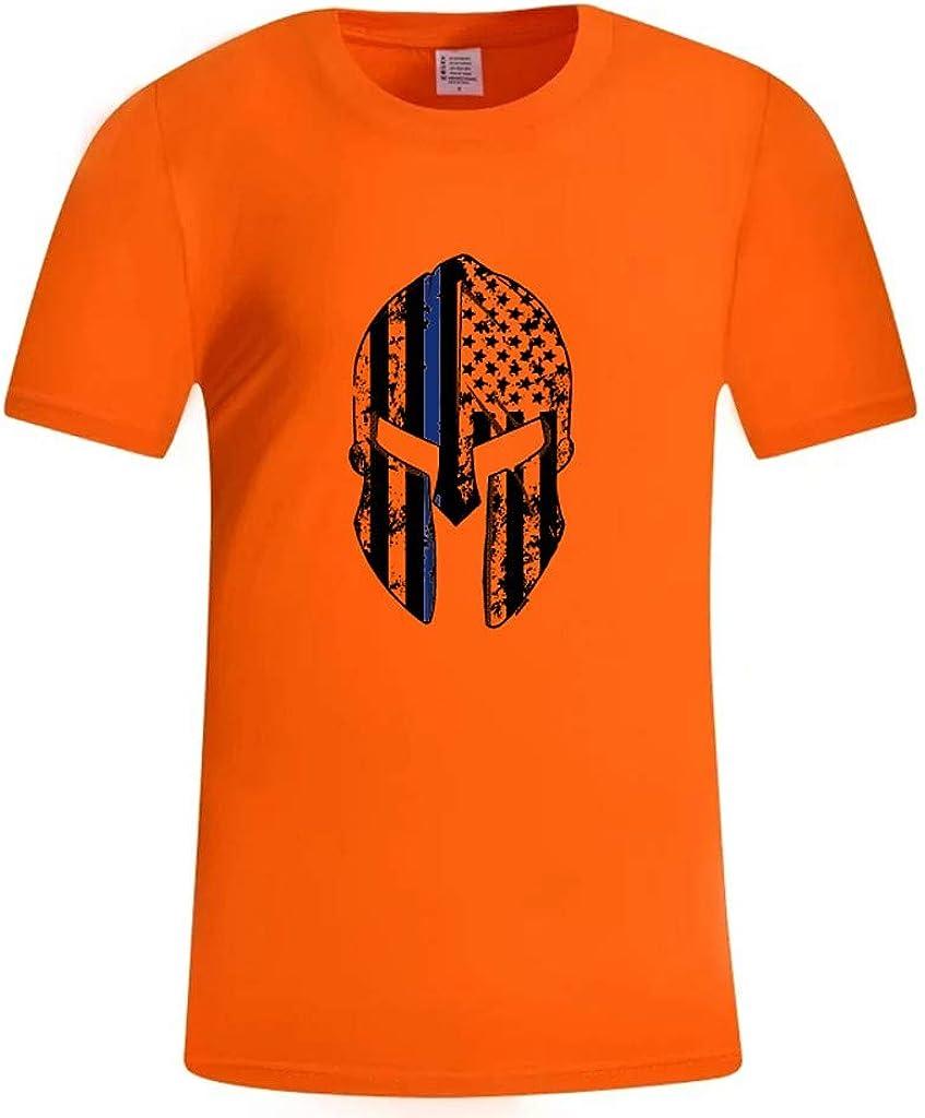 Tops Hombre, MISSWongg Camisa con Estampado Bandera de Verano para Hombre Slim Fit Camiseta Cuello Redondo Camiseta para Hombre Blanca Cómodo Transpirable Camiseta Manga Corta Hombre: Amazon.es: Ropa y accesorios