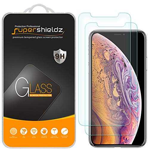 [2-Pack] Supershieldz for Apple iPhone Xs & iPhone X (5.8