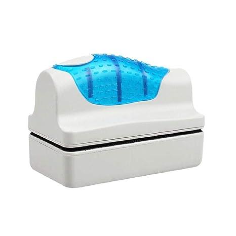 Yililay Suministros de Peces de Acuario Tanque de Cepillo magnético Conveniente Limpiador de Vidrio Flotante Curva